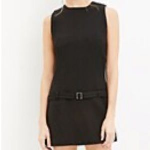 Forever 21 Black belted drop-waist dress